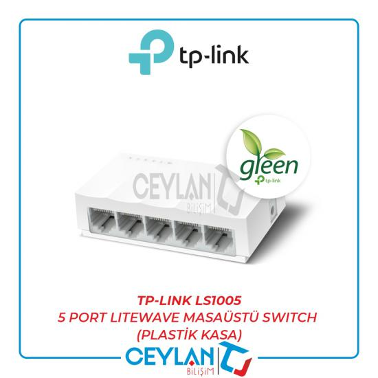 TP-LINK LS1005 5 PORT LITEWAVE MASAÜSTÜ SWITCH (PLASTİK KASA)